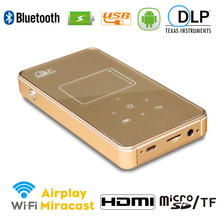 Android wifi bluetooth wireless DLP mini pico projector built in battery for home office business