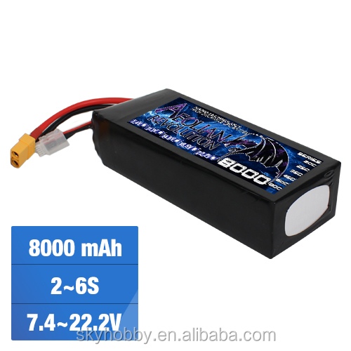 China Lipo Battery 11.1V 8000mAh 3 Cell 25C Drone Rechargeable Battery for RC Airplane Helicopter