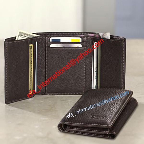 Rfid blocking leather banking men wallet