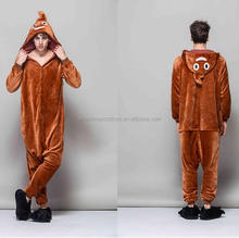 hot sale animal onesie plush soft adult poo poo shit pajamas