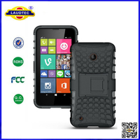 Armor Heavy Duty Shockproof Stand Defender Reinforced Bulder Hard Case Cover Armor for Nokia Lumia 530 Laudtec