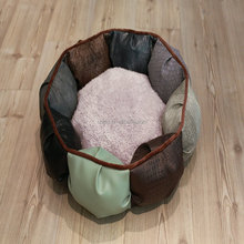 Cute custom soft round luxury pet dog beds