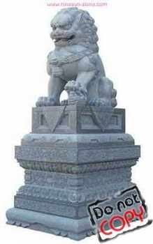 Stone marble lion