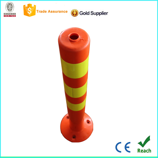 retractable belt stanchion security flexible post UV pu warning post