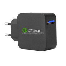 QC 3.0 - 18W Qualcomm Certified Quick Charge 3.0 Battery Pack Wall Chargers 240V for Galaxy S7/S7 Edge/S6/S6 Edge Plus/S5/S4 et