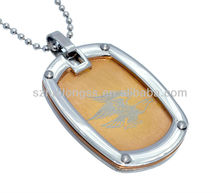 american eagle lasering pendant wholesale,gold plated dog tag pendant