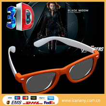Cheap Promotion imax active red/green/blue 3d glass/3d glasses/3d eyewear plastic polarized polarizer film