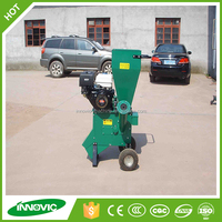 Recoil or electric start gasoline garden shredder wood chipper