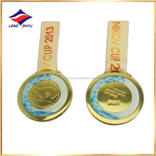Silver hongkong prize metal medal with custom ribbon