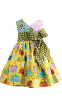 Latest Design baby girls boutique surplice flower long frock dress children girl remake beautiful clothes set