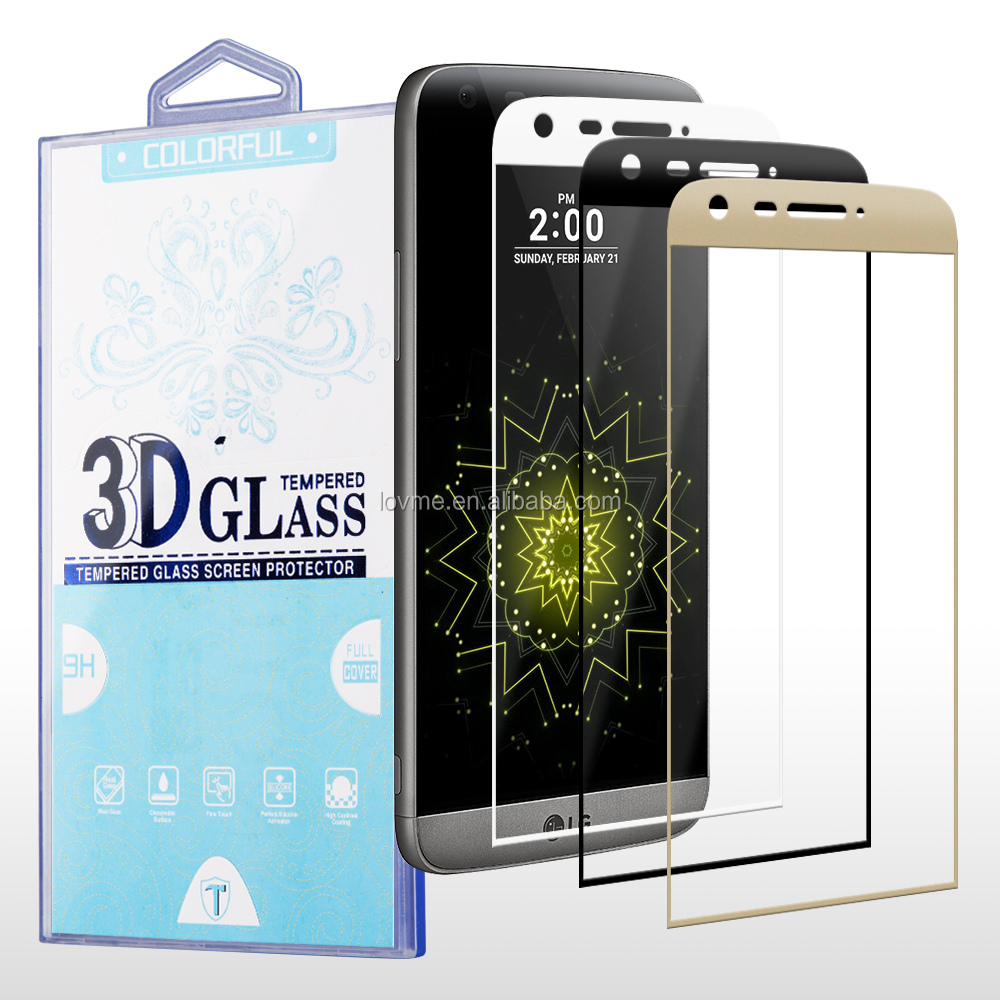 Chrome Printed Color 9H Tempered Glass Screen Protector for LG G5