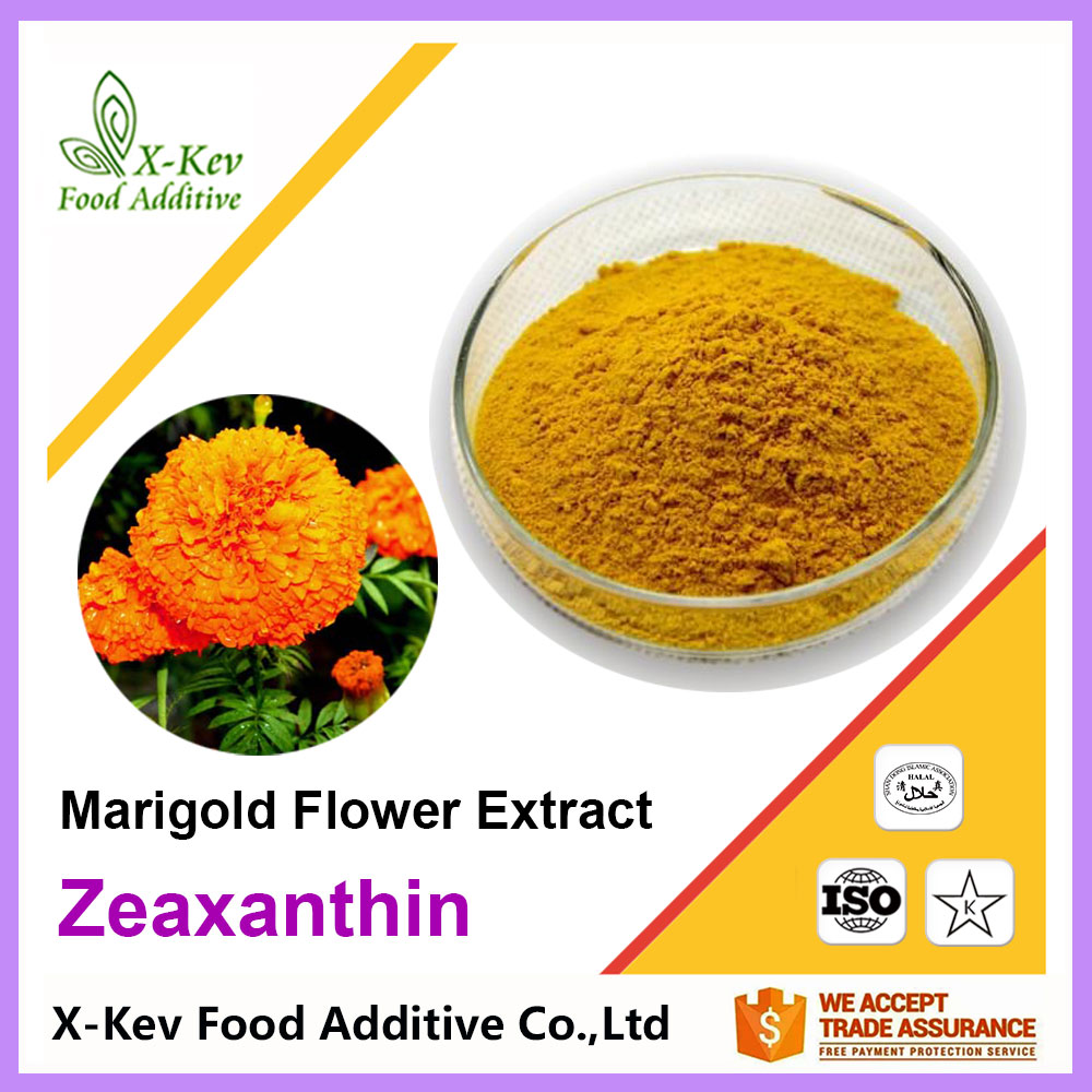 Natural Organic Marigold Flower Extract 5% 10% 50% Zeaxanthin