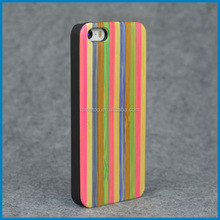 Real Natural wooden with PC Back wood case cover for iphone 5/S/SE ,smartphone case,new style wooden case