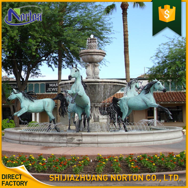 Large park decoration bronze horse water fountain NTBFO-097Y