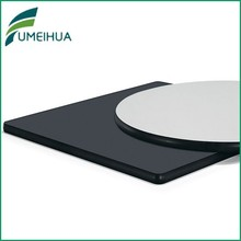 white / black solid laminate table top / hpl compact laminate table top