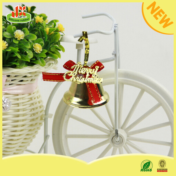 Factory wholesale pvc small bells christmas <strong>decoration</strong>