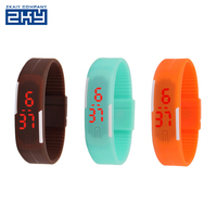 Waterproof touch digital watch womens mens kids silicone band touch screen sports LED watch