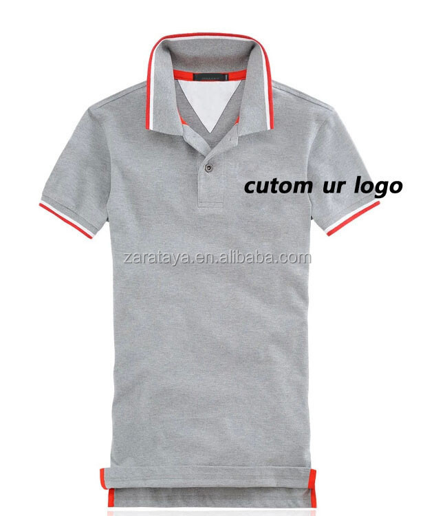 HOT SALE !! custom embroidery AND printing designs Hemp mens Fitted Grey Polo shirt Bulk blank Polo t-shirts Wholesale