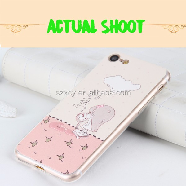 2017 new 3D cust cartoon animal shaped pu tpu cell phone case for iphone 7 7 plus