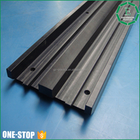 Plastic engineering factory low price linear cnc machining uhmwpe plastic elevator guide rail