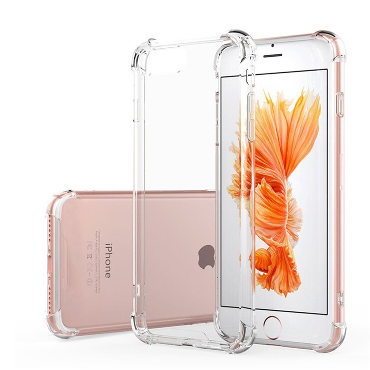 2018 Hot Selling Top Quality TPU Soft Great Touch Feeling 1.0 MM Transparent Phone Case For iPhone 7 Cell Phone Case Phone Cover