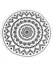 Same design with different color printed round beach towel with tassels