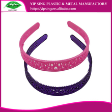 Yip Sing wholesale factory price colorful girls plastic headband with teeth