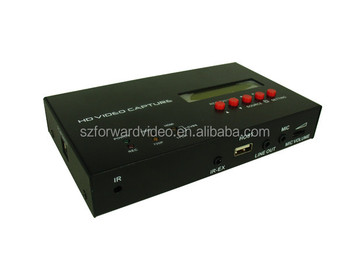 ezcap283S HD Video Capture with display LCD screen schedule recording time switch the recording between 720P and 1080P.