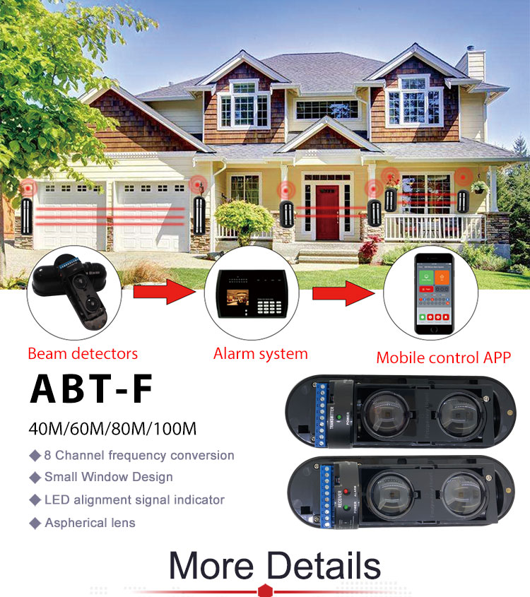 Long Distance Infrared Laser Dual Beam Infrared Detector Alarm System