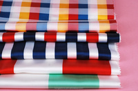 100% Polyester Multicolor Stripe/Check Jacquard Fabric