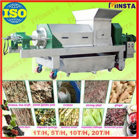 2015 hot selling reliable performance industrial cold press juicer / ginger juice extractor