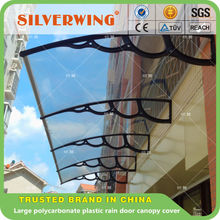 Large polycarbonate plastic door canopy, sun shade window awning