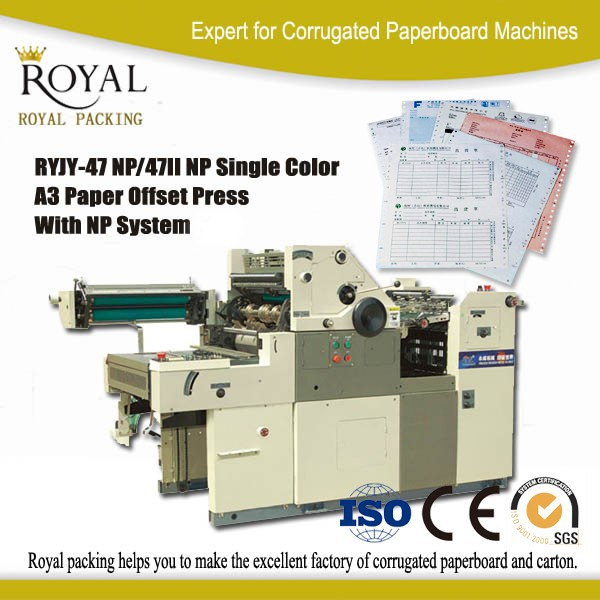 High quality single color mini offset printing machine for bill note book