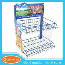 coffee bean retail store counter top wire metal display stand