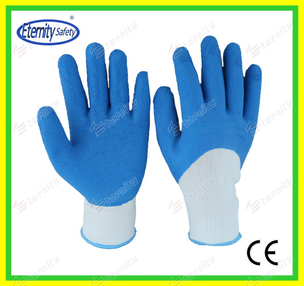 Industry protection foam coated gloves Nylon /poly cotton coated glove