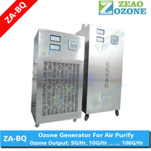 ozone generator for removing kitchen odors as well as grease deposits in ventilation