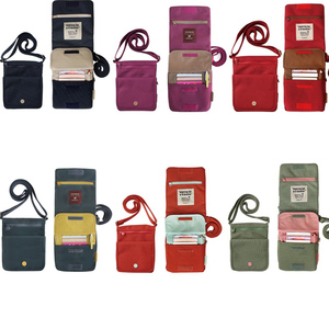 High Quality Mini Travel Messenger Passport Bag With Different Colors