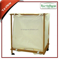 canvas bags with bamboo handles laundry/elegant bamboo frame laundry center
