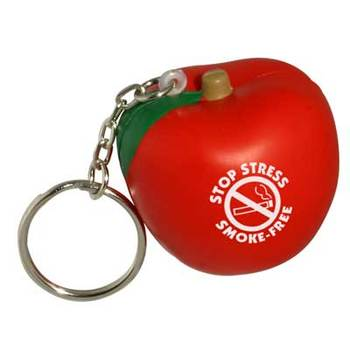 Apple keychain PU Stress reliever ball Slow rising squishy