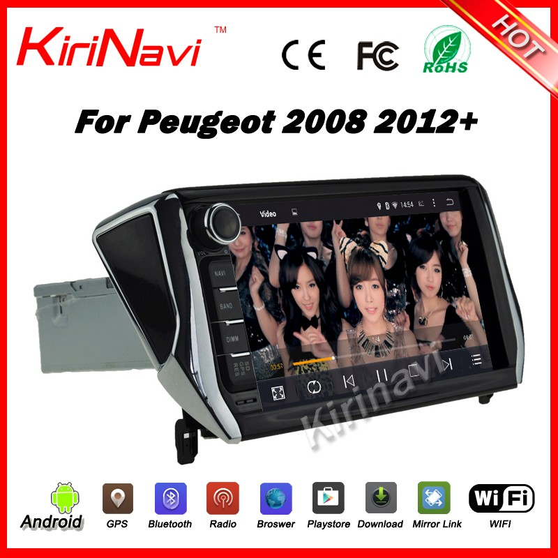 Kirinavi WC-PT7208 Android 5.1.1 car pc multimedia player for peugeot 2008 2012-2016 android car radio stereo gps with wifi 3g