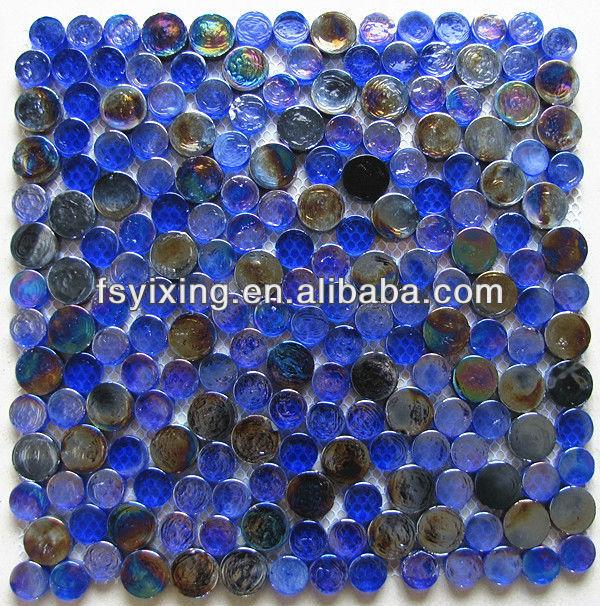 gr32 benzo blau und schwarz runde glasmosaik fliesen f r bad schwimmbad brunnen mosaik fliesen. Black Bedroom Furniture Sets. Home Design Ideas