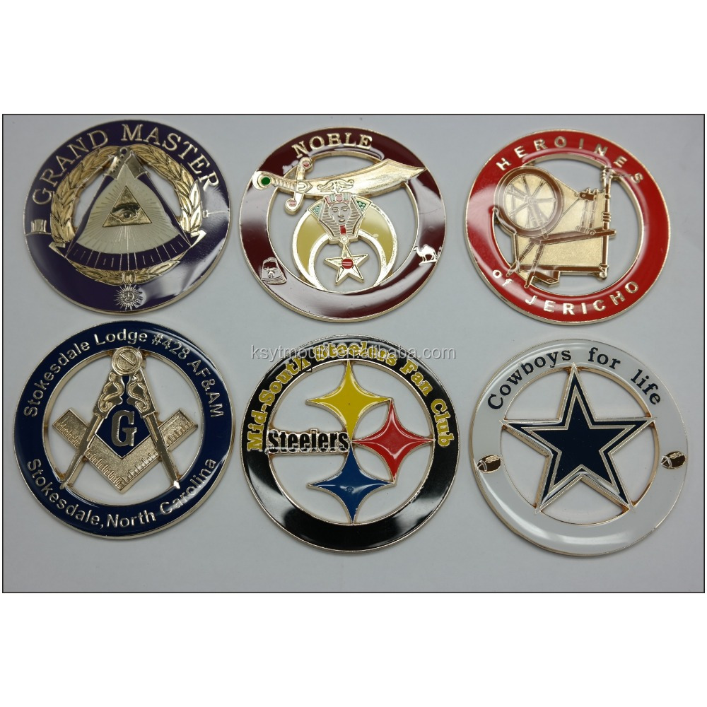 Hot Sale emblem car badges custom masonic car badge for sale