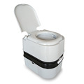 Portable toilet with trailer
