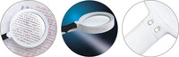 4X TH-601 handheld portable magnifier with led light
