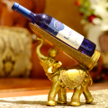 wholesale decorative animal polyresin single wine bottle holder