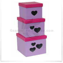 Most Popular Item Wedding Decoration Purple 3 Size Gift Box Wholesale
