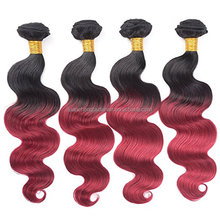 20 Inch 7A Grade Ombre Color 1B/Burg Indian Remy Human Hair Weft Wholesale