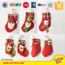 New product promotion toys Christmas red sock toy for kids