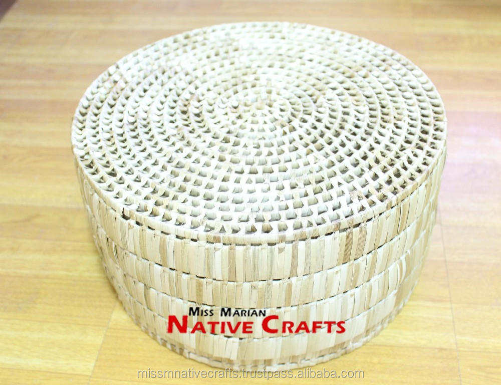 Lauhala Palm Leaf Box, Knot Lauhala Box Packaging Bulk wholesale