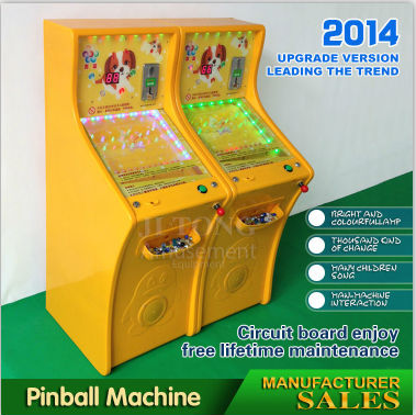 Mini pinball video game making machine gambling